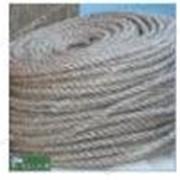 Веревка Лен д14мм (50м) кооперативная крученое плетение льняной нити №703170 фото