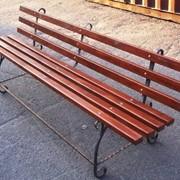 Скамейка кованая 2,2 м. фото