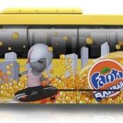 Размещение рекламы на транспорте фото