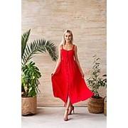 Сарафан женский на бретелях (4 цвета) НИ/-013 - Красный фото
