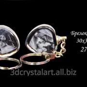 Брелок - сердце из оптического стекла с фото, оригинальные подарки и сувениры фото