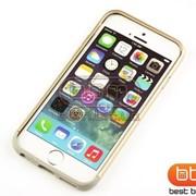 Аксессуар Bumpers iPhone 6 PRO.Аксессуар Bumpers (пластик с силиконом) золото 57045 фото