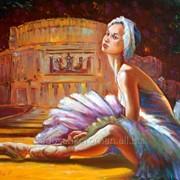 Балерина, живопись маслом на холсте в Минске. фото
