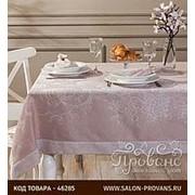 Скатерть прямоугольная Tivolyo Home DAHLIA жаккард пудра 160х260 фото