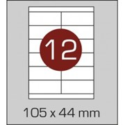 Этикетки самоклеящиеся 105х44 мм фото