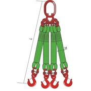 Четырехветвевой строп текстильный 4СТ-25 ТН, 7 м фото
