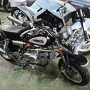 Мопед мокик Honda Monkey рама Z50J Minibike тюнинг задний багажник пробег 10 т.км черный серебристый фото