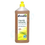 Средство для мытья посуды с уксусом 1 л, экологическое ECODOO фото