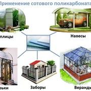 Сотовый поликарбонат от 3 до 10мм , Цветной и прозрачный. Размер 2,1х6м. Арт № 14-01-78 фото