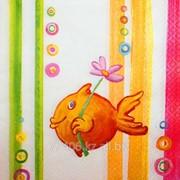 Салфетка для декупажа Счастливая рыбка фото