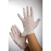 Перчатки смотровые латексные гладкие с пудрой. фото