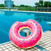 Надувной круг пончик D=80см фото