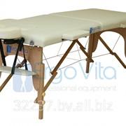 Складной массажный стол ErgoVita Master Econom (2-х секционный, опора бук, кремовый) фото