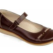 Туфли 6322 коричневый (р. 32-37) фото