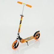 Самокат складной 109 оранжевый (20 см колеса) фото