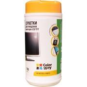 Диск чистящий CW-1071 + Салфетки для LCD и TFT 100шт, код 25073 фото