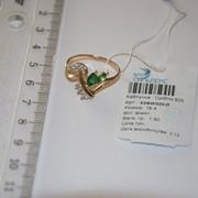 Кольцо серебряное позолоченное с фианитами Арт К3ФИ/020 фото