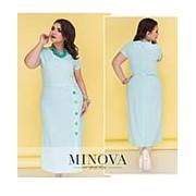 Платье женское голубое миди (7 цветов) ОМ/-5201 фото