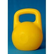 Гиря пластиковая с наполнителем 6кг желтая фото