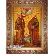 Икона Апостолы Петр И Павел Из Янтаря, Ручная Работа, цена Код товара: Оар-185 фото