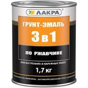 Грунт-эмаль 3 в 1 серый, Интерьер, 1 кг фото