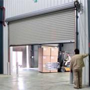 Ворота для холодных помещений ангарного типа HR120A алюминиий, купить ворота ангарного типа фото