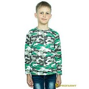 Футболка детская White Camo длинный рукав фото