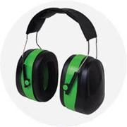 Наушники с шумоподавлением 32dB зелёные (усиленный мягкий наголовник) фото