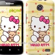 Чехол на Lenovo A820 Hello kitty. Yellow 681c-68 фото
