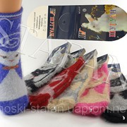 Ангоровые детские носочки Шугуан. В упаковке 12 пар фото
