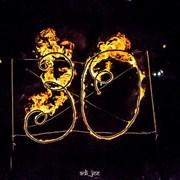 Огненные буквы, лого и инсталляции.  фото