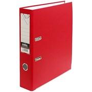Папка-регистратор 50 мм, PVC, красная,с метал. окант. (INDEX) фото