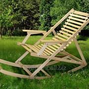 Шезлонг Пикник с качалкой natural (Микс-Мебель ТМ) фото