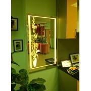 Зеркало с декоративной подсветкой фото