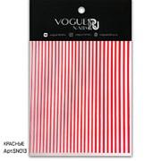 Vogue Nails, Силиконовые полоски, красные фото