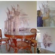 Роспись на кухне. Итальянские колонны фото