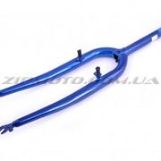 Вилка велосипедная жесткая 26 YAT синяя фото