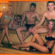 Финские сауны в аквапарке Джунгли фото