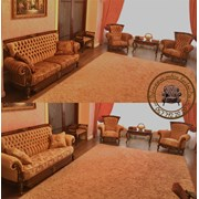 Перетяжка комплекта ( диван, 2 кресла ) фото