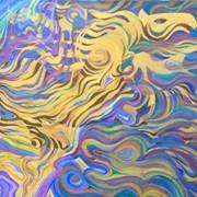 Картина, исполненная в технике масло, холст фото
