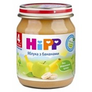 Пюре Hipp 125г Яблоки с бананами, с 4мес фото