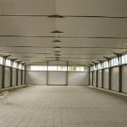 Многопролетное здание с вертикальными стенами фото