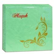 Салфетки бумажные Alsupak 20 шт салатовая 2-х слойная 33 * 33 72142 фото