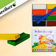 Пластилин 148745 Schreiber S 911 цветной ( 8 цветов ) со стеком для лепки 160 гр. ( уп.1 шт.) фото