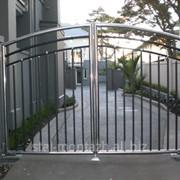Ворота из нержавеющей стали фото