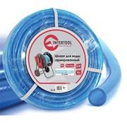 """Шланг для воды 3-х слойный 3/4"""", 10 м, армированный, PVC INTERTOOL GE-4071 фото"""