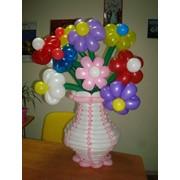 Цветы из воздушных шаров, сердечка, 8Марта с шариков. Киев. Доставка фото