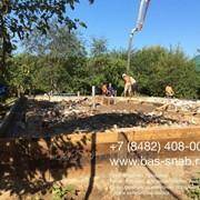 Перекачка бетона бетононасосом фото