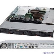 Supermicro Server Chassis 1U 600W BLACK (CSE-815TQ-600WB) фото
