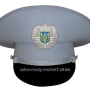 Фуражка летняя офицерская светло-серая фото